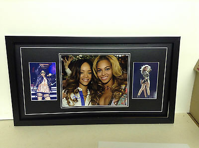 Beyonce & Rihanna Hand Signed/Autographed  Photograph with COA
