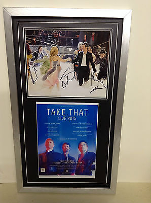 Take That Hand Signed/Autographed Photograph with a poster and COA
