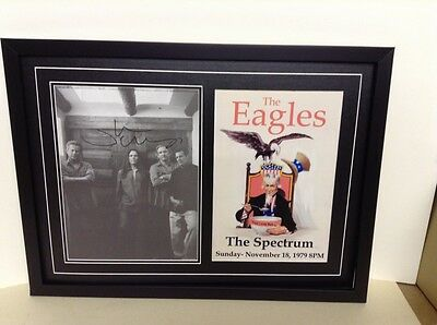Eagles Hand Signed/Autographed Photograph with a poster  & COA