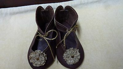 LEATHER DOLL SHOES FOR ANTIQUE GERMAN OR FRENCH DOLLS / Leder Puppenschuhe
