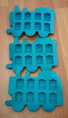 3 x thomas the tank ice cube trays silicone