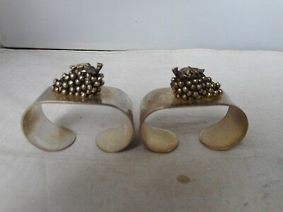 TWO VINTAGE NAPKIN RINGS-5cms long and 2.5cms high