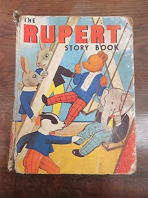 1938 First Edition Copy Of The Rupert Story Book By Mary Tourtel Rupert On Swing
