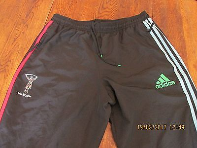 Harlequins Rugby Football Club Adidas Black Tracksuit Bottoms Size Extra Large