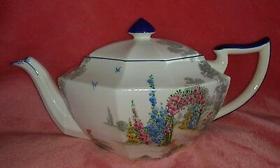 Shelley Archway Of Roses Rare Teapot Full Size 783404 Handpainted