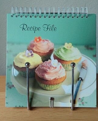 New Recipe Cook File Folder Organiser Index + Book Stand - Holds 90 Pages