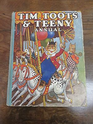 RARE EARLY 1930s/40s COPY OF TIM, TOOTS & TEENY ANNUAL - CATS ON CAROSEL