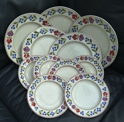 """11 x ADAMS OLD COLONIAL PLATES -  5 x DINNER PLATES 10"""" & 6 x SIDE PLATES 7"""""""