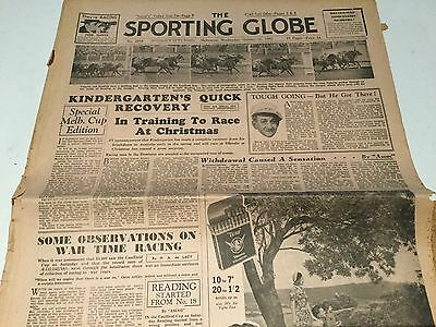 1941  Sporting Globe  --- Caulfield Cup Results, Plus Guide To Moonee Valley