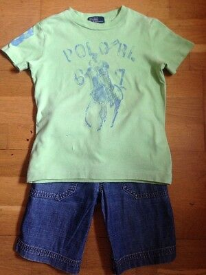Boys Ralph Lauren Top And Shorts Age 4/5