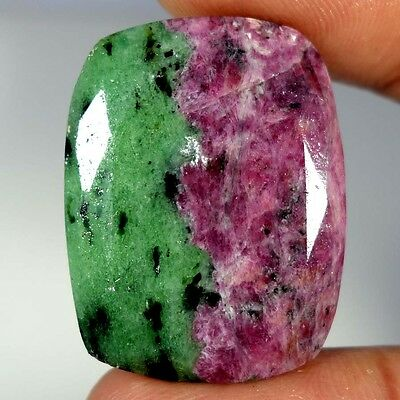 62.00Cts. 100% NATURAL MARVELOUS RED GREEN RUBY ZOISITE CUSHION CUT A+ GEMSTONES