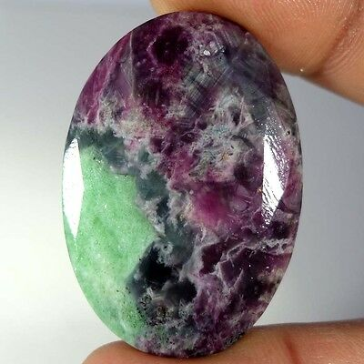 85.75Cts 100% NATURAL RED GREEN RUBY ZOISITE PRECIOUS OVAL CUT AFRICAN GEMSTONES