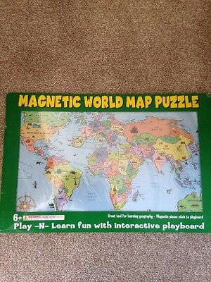 NEW Magnetic World Map Puzzle Unopened