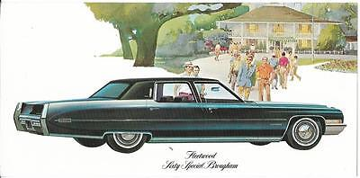 Cadillac Advertisement Card - 1971 Masters - Fleetwood Sixty Special Brougham