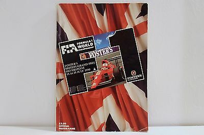 1990 Foster's British GP Grand Prix Silverstone F1 Formula 1 Official Programme