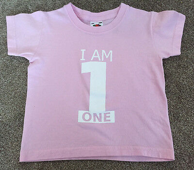 Fruit of the Loom 'I Am 1' T-Shirt 1-2 years