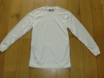 White Long Sleeve Base Layer by Campri Size Small