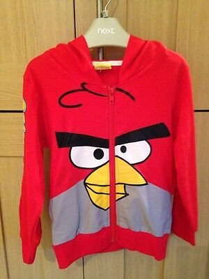 Bnwt Boys Angry Birds Zip Up Hooded Jacket Age 3-4 Years