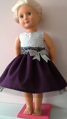Hand Made Party Dress for 18 inch Our Generation Dolls