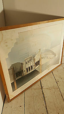 Architectural Framed Screenprint Artwork by Eduard Danes? Sterling Miami Beach
