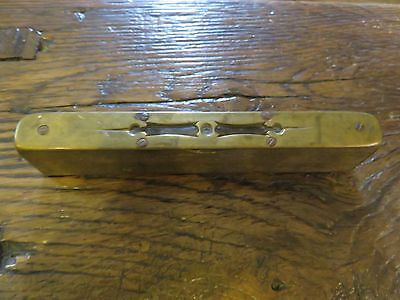 Early Antique Georgian Wooden & Brass Spirit Level - Tools - Joinery