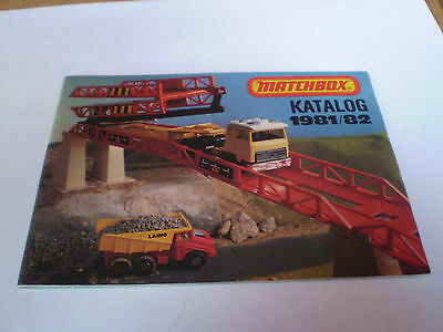 Matchbox Toy Catalogue 1981/82 German Edition  Excellent Condition For Age