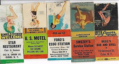 1950s/60s Pin Up Art Matchbook Covers Small Cities
