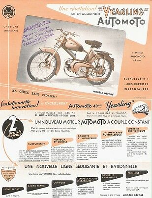 PUBLICITÉ : AUTOMOTO / LE CYCLOSPORT * YEARLING * - French Advertising