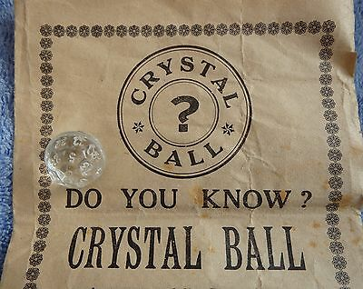 Rare Antique Vintage 1930 Crystal Ball Fortune Telling Ouija Game Czechoslovakia