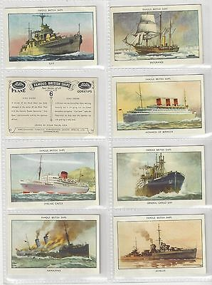 Complete set 25 Amalgamated Tobacco Mills cigarette cards Famous British Ships