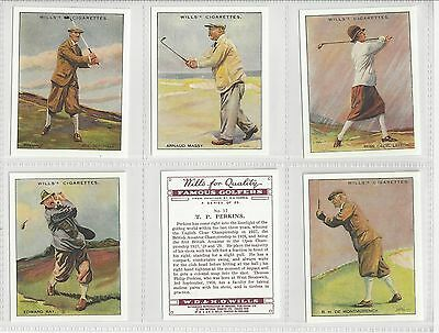 Complete set 25 WD&HO Wills Large cigarette cards Famous Golfers REPRINTS