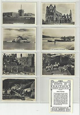 Complete set 48 Pattreiouex Large cigarette cards Sights of Britain 2nd series