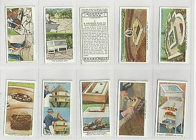 Complete set 50 WD&HO Wills cigarette cards  Garden Hints  series