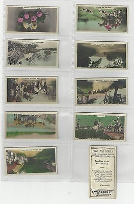 Complete set 54 Cavanders cigarette cards  The Homeland Series + 3 varieties