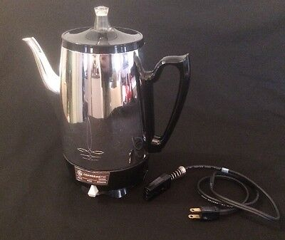 Vintage GENERAL ELECTRIC Universal Coffeematic A-4up Electric Percolator - 8 Cup