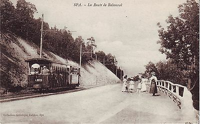 Belgium Spa - La Route de Balmoral Tramway old unused postcard