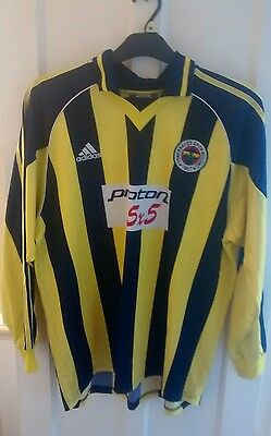 Fenerbahce Turkey 1999/2000 Player Issue Home Football Shirt Jersey !!