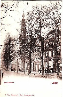 Netherlands Leiden - Steenschuur unused undivided back postcard