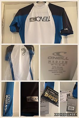 O'NEILL SKINS UV PROTECTION SURFING  TOP BLUE/White SIZE M
