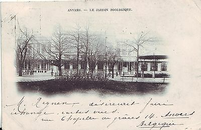 Belgium Anvers Antwerpen La Jardin Zoologique 1903 cover Odessa Одесса postcard
