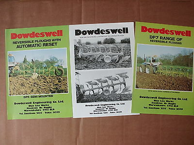 County Tractor / Dowdeswell  Plough   Brochures