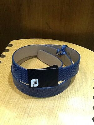 Footjoy Navy Leather Belt, NEW  Sold By PGA PRO
