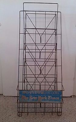 Antique Vintage New York Times News Stand Wire Rack