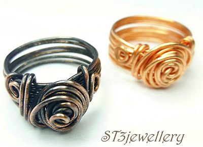 Ladies Copper ring womens Antique ring Rose mens handmade fashion xmas gifts st3