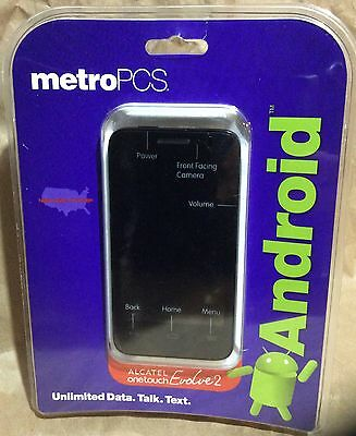 NEW! Alcatel One Touch Evolve 2 Metro PCS Smartphone 5MP 4GB Expandable to 32GB