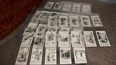 Rothman's Ltd - Punch Jokes - Full Set Of F50 Cigarette Cards In Plastic Sleeves
