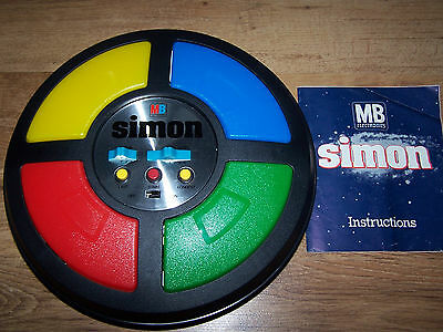 Vintage 1978 Simon Electronic Game by MB Boxed in Partial working order