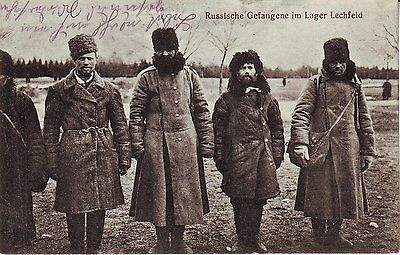 Russia Lager Lechfeld - Russia WWI POW in Germany 1915 cover mailed postcard