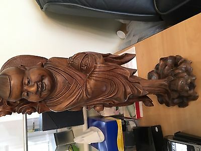 Chinese Figure Antique Wooden Carved