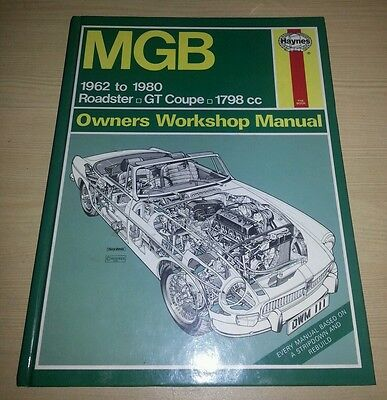 Mgb Haynes Owners Workshop Manual Immaculate Condition Free Postage Gt Tourer